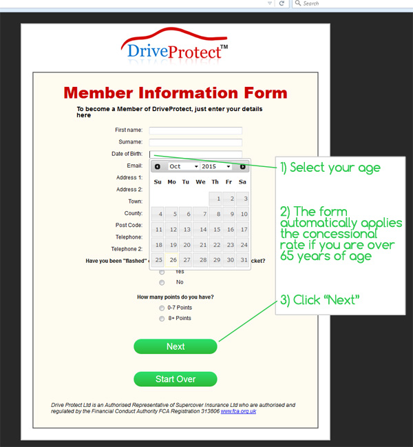 DriveProtect Concessional Rates